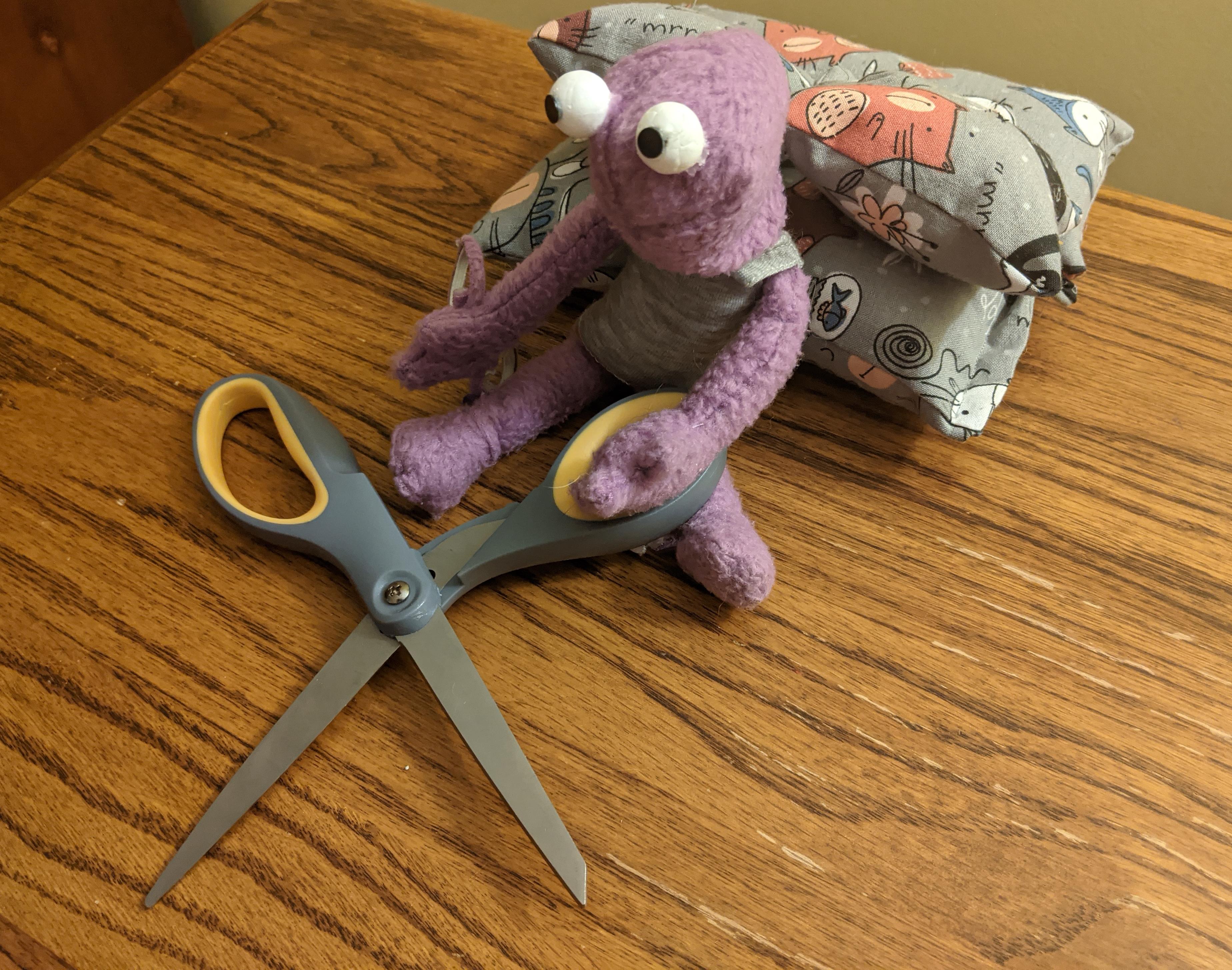 Jab with Scissors